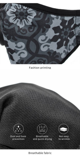Outdoor Cycling Dustproof Face Shield with Filter Mouth Cover Moto Mouth-muffle