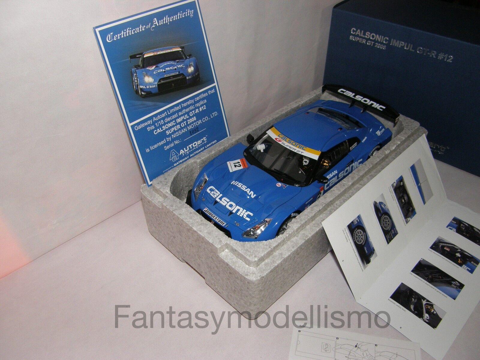 NISSAN CALSONIC IMPUL GT-R   12 SUPER 2008 AUTOart SCALA 1 18 ART 80877 AZZURRA  magasin en ligne de sortie