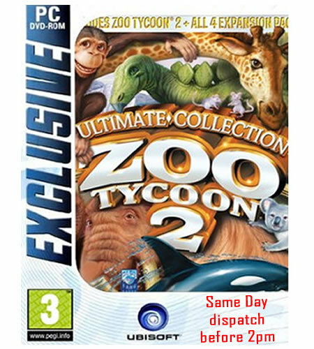 """ZOO TYCOON 2 ULTIMATE COLLECTION ( PC DVD) """" BRAND NEW & FACTORY SEALED"""""""
