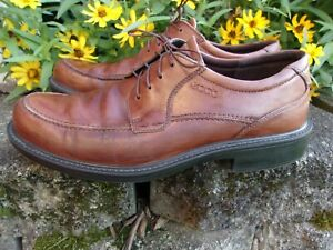 Details about ECCO ~ Brown Leather Shock Point Heel OXFORD Casual SHOES ~ Men's Size Euro 43