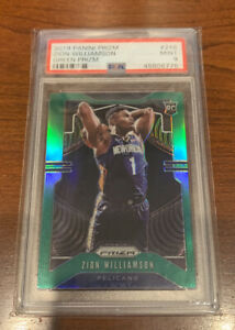 2019-20-Panini-Prizm-Green-248-Zion-Williamson-Pelicans-RC-Rookie-PSA-9-MINT