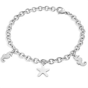 SECTOR-Braccialetto-femminile-Love-and-Love-SAGI12-acciaio-charm-ciondoli-silver