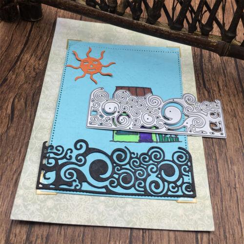 half picture frame DIY cut dies stencil scrapbooking album paper card embossing