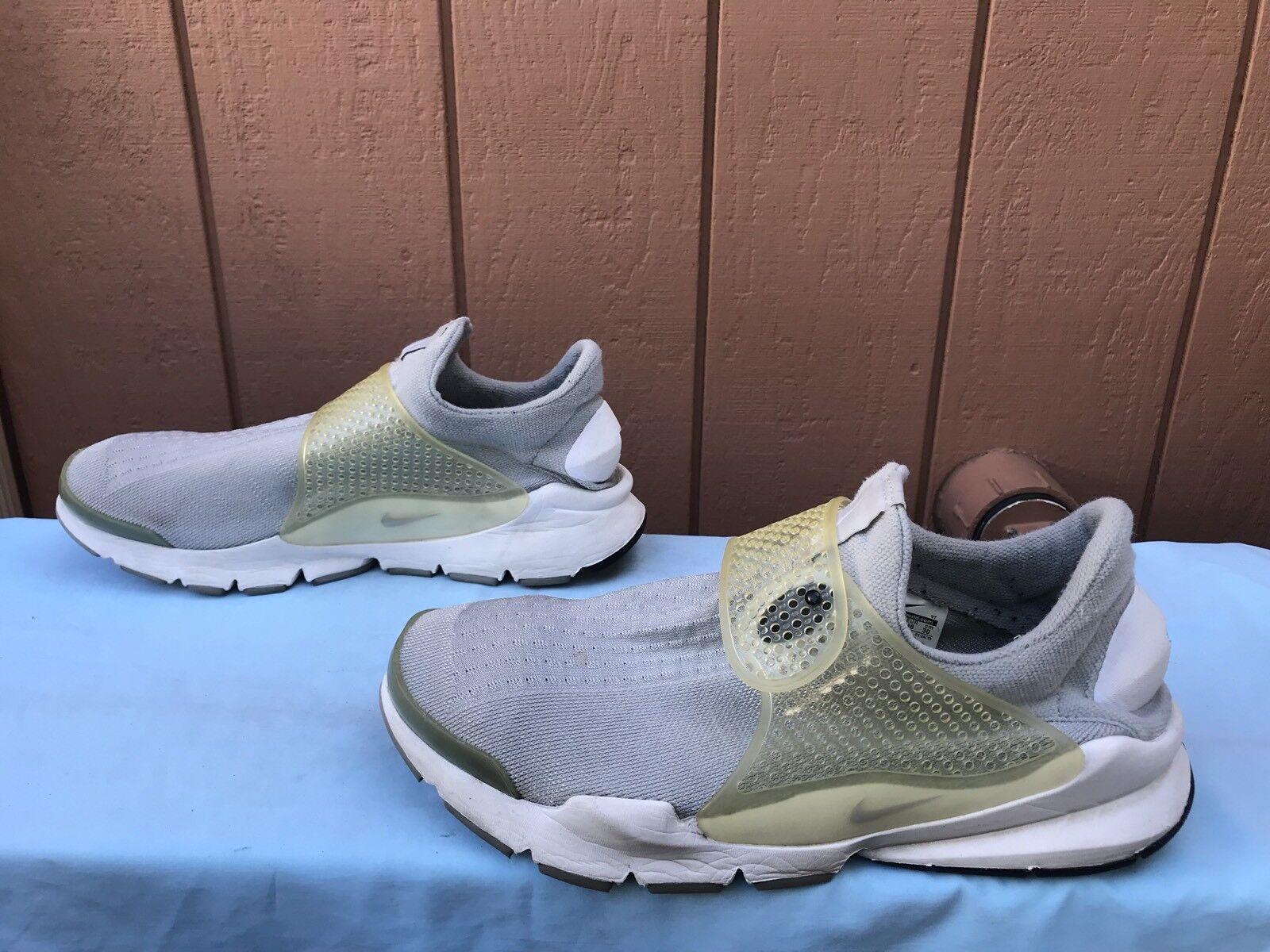 RARE! EUC Nike Sock Dart SP 686058 011 Men's Size US 12 Gray Running Shoes A6