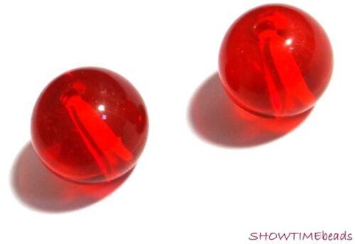 rot 4mm 30 Stück rund Glasperle