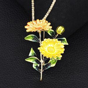 Betsey-Johnson-Chrysanthemum-Flower-Pendant-Chain-Necklace-Brooch-Pin-Gift