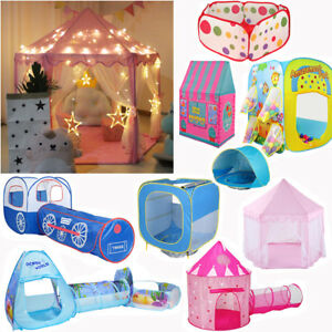 Indoor-Outdoor-Playhouse-Pop-Up-Play-Tent-Kids-Children-Party-Game-Tent-Tunnel