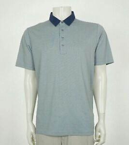 Travis-Mathew-Gray-Cotton-Blend-Casual-Golf-Polo-Shirt-Mens-Large