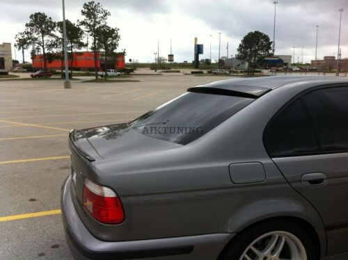 Sedan Rear Window Sunguard Roof Spoiler Extension Deflector Visor BMW E39 5ser