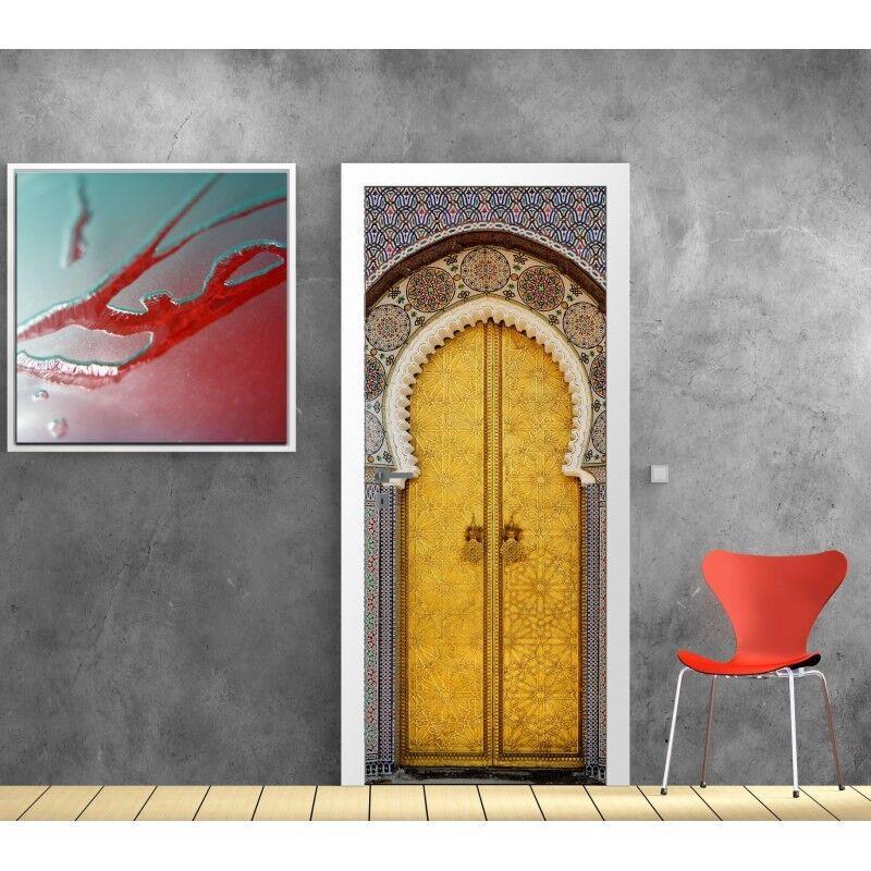 Cartel Póster para Puerta - Puerta Oriental 621 Arte Decoración Pegatinas