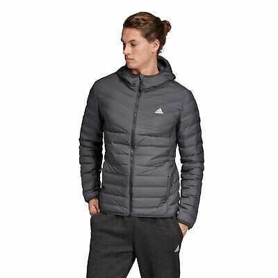Adidas Performance VARILITE Hooded Mens Down Jacket Winter Jacket Quilted Jacket | eBay