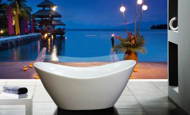 """67"""" Modern Bathroom Modern Acrylic Luxury Shower Free Standing Soaking Bathtub"""
