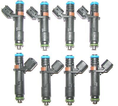 8 OEM 24lbs Set Flow Matched 4 nozzle Fuel Injectors for Ford 5.4L EV6 Can