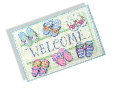 Dolls house Door Mat / Rug 1/12th Printed Canvas Miniature  Accessories DR09