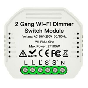 2-Gang-DIY-WiFi-Smart-2-Wege-Licht-LED-Dimmer-Modul-Schalter-Smart-Life-Tuy-M4J2