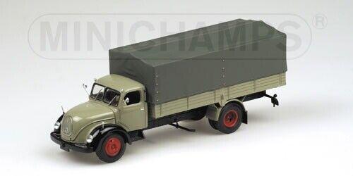 ofrecemos varias marcas famosas Minichamps Magirus Magirus Magirus S6500 Lona 1955 gris NEGR 1 43 439141020  entrega de rayos