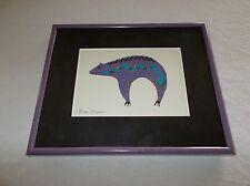 Beautiful signed artist Breck Gorman Southwestern themed Bear symbol framed pic