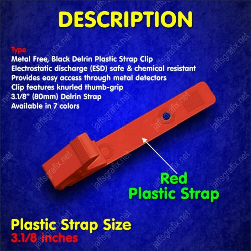 Color Plastic ID Badge Holder Clip RED