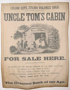Uncle Tom S Cabin For Sale Here Poster Slavery Harriet