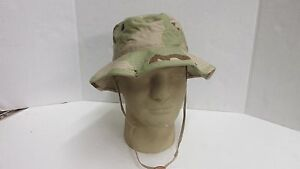 dcbe914a094 US MILITARY ISSUE THREE COLOR DESERT BOONIE HAT SUN HOT WEATHER SIZE ...