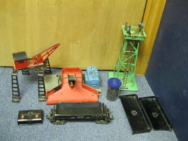 Lionel   397 395 3469 coal loader car girder bridge large lot