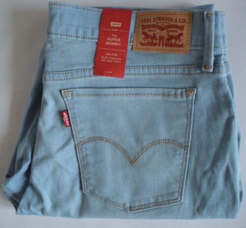 Super Blu Jeans Blend W33 O 710 Nere Cotone Elasticizzato Skinny Levi's l30 TFgq1aF