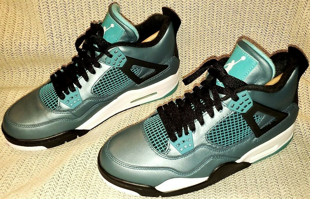 AIR JORDAN 4 RETRO 3OTH 705331330 SIZE 8 TEAL NEW IN BOX  FREE SHIPPING