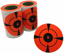 125//roll Shooting Targets Neon Orange Self Adhesive 3 Inches Target Stickers