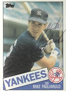 Mike-Pagliarulo-1985-Topps-638-signed-auto-autographed-card-New-York-Yankees