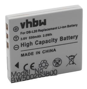 Akku-wie-Sanyo-DB-L20A-DB-L20AEX-550mAh-3-6V-Li-Ion