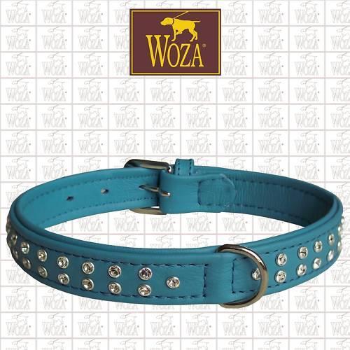 WOZA Premium Hundehalsband Hundehalsband Hundehalsband Vollleder Swarovski 4Lagig Rindnappa genäht YH1844 459cf5