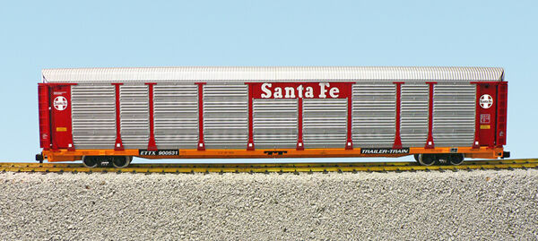 USA Trains G Scale BI LEVEL AUTO CARRIER R17170 Santa Fe