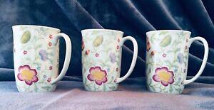 3-Fine-China-Japan-Avignon-Toscany-Coffee-Tea-Cups-Mugs-Spring-Flowers
