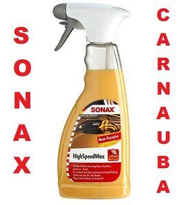SONAX-HIGH-SPEED-WAX-500ml-RENOVATEUR-CIRE-POLISH-CARNAUBA-FIAT-BARCHETTA-1-8-16
