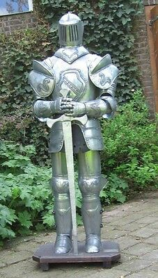 Authentic Knight Suit Of Armour with sword and stand 103CM