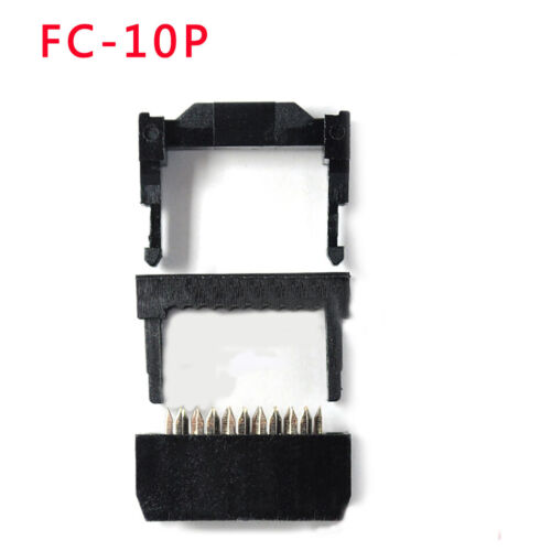 10 PACK 6//8//10//12//14-50Pin IDC Socket Plug Ribbon Cable Connector 2.54mm Pitch