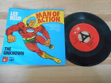 """7"""" Pop Les Reed - Man Of Action / The Unknown (2 Song) BASF / DDO Dt.Disc-Jockey"""