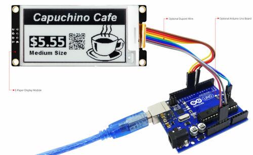 Negro 2.6 Pulgadas E-Papel//e-ink Display Module 296x152 para Arduino Raspberry Pi
