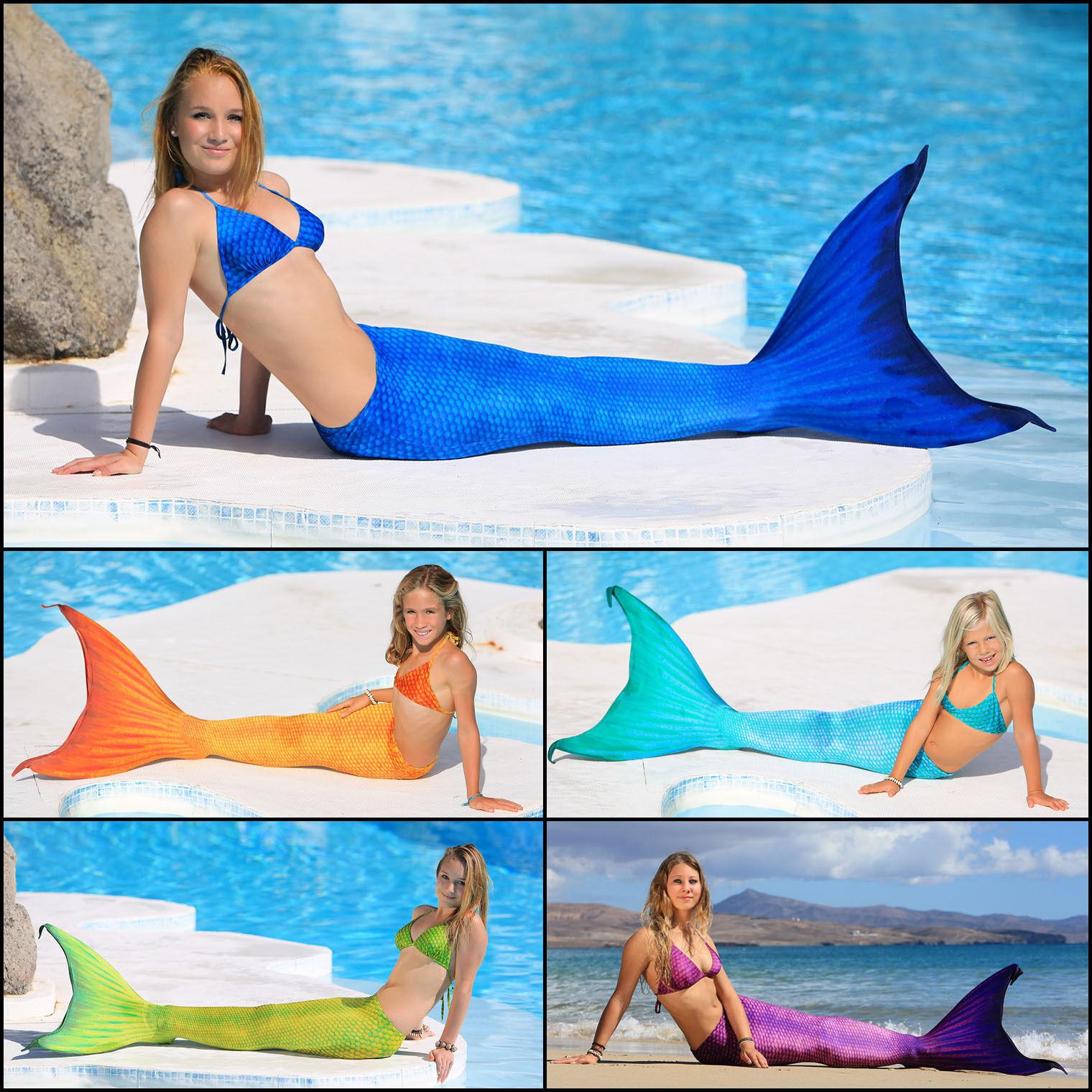 Magictail Marina Meerjungfrauenschwanz Nixenkostüm mit mit mit Schwimmflosse und Bikini 78a0e8