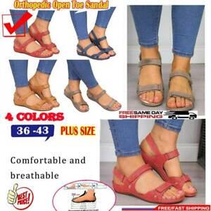 Fashion-Womens-Orthopedic-Open-Toe-PU-Sandals-Retro-Anti-slip-Breathable