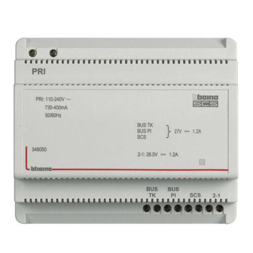 bus bticino 346050 Alimentation et adaptateur vidéo pour portier 110V à 240V 27V