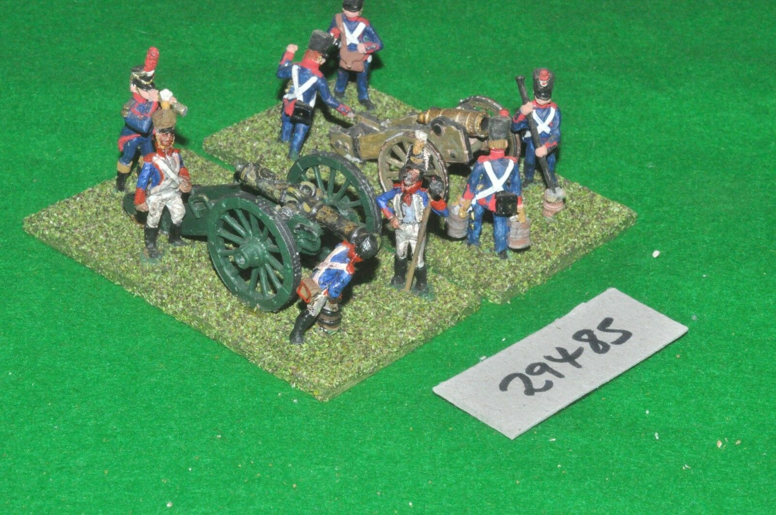 25mm napoleonic   french - 2 guns & crews - art (29485)