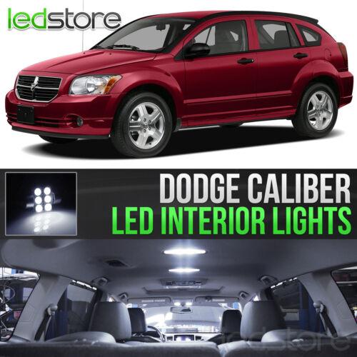 2007-2012 Dodge Caliber White Interior LED Lights Kit Package