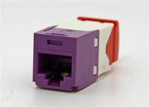 24 Panduit Pan-Net CJ5E88TGVL Mini-Com TX-5E Jack Module Qty Violet