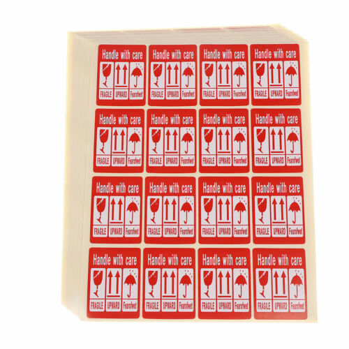 240X Fragile Sticker Up and Handle With Care Keep Dry Shipping Label 3.5*4.8c PD