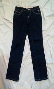 Justice-Girls-Dark-Wash-Blue-Denim-Jeans-Size-10S