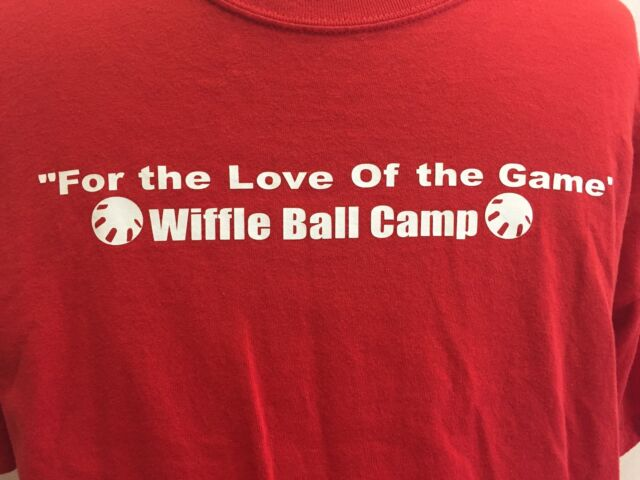 Wiffle Ball Camp T Shirt Baseball Love of the Game Red XL Cotton