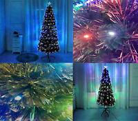 4ft 120cm Green LED Fibre Optic Christmas Xmas Tree Lights Pre Lit Multi Colour