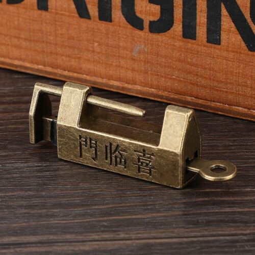 1pcs Old Vintage Antique Style Mini Chinese Copper Padlocks Key Lock for Jewelry