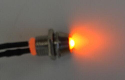 12V Anschlußfertig C2692 LED 6 Farben 3mm Chrom Metall Fassung Schraube 9V
